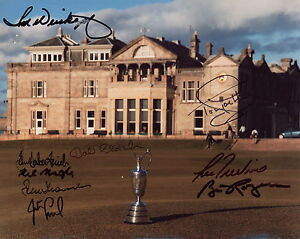 GOLF-BRITISH-OPEN-CHAMPIONS-HAND-SIGNED-8x10-PHOTO-SIGNED-BY-9-LEGENDS