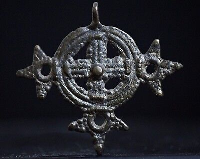 Ancient Viking Bronze Cross. Norse Amulet Pendant, circa 950-1000 AD. Cleaned.