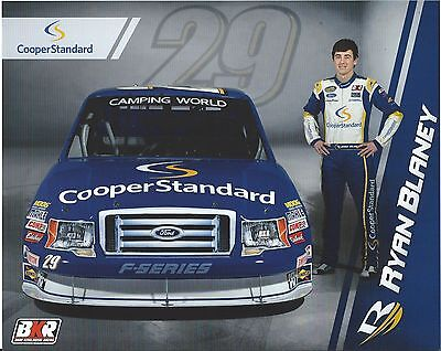 2013 Ryan Blaney  29 Cooper Standard Camping World Truck Series Postcard