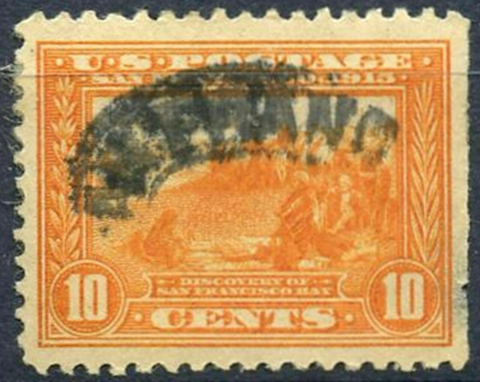 SCOTT # 400a  - USED TEN CENT PANAMA-PACIFIC STAMP  -  EXCELLENT CONDITION