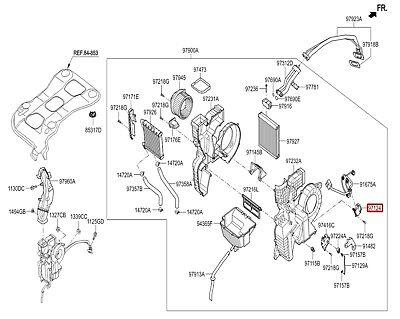 OEM Intake Door Actuator Hyundai Azera HG Santa Fe Sonata