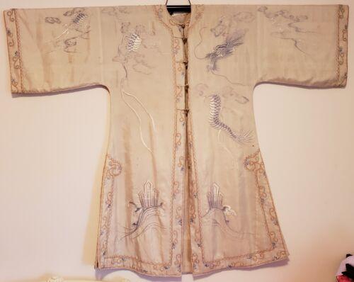 Fine Antique Qing Dynasty Silk Robe 19th Century