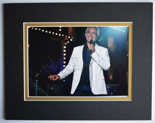 Andrea Bocelli Signed Autograph 10x8 photo display Classical Music AFTAL COA