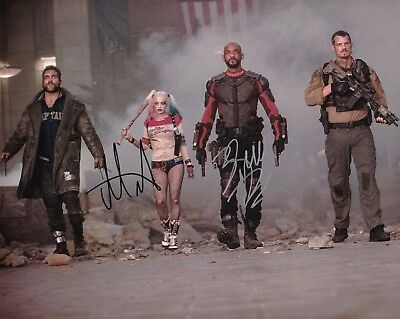 Will Smith   Margot Robbie Autographed 8X10 Photo Suicide Squad  1