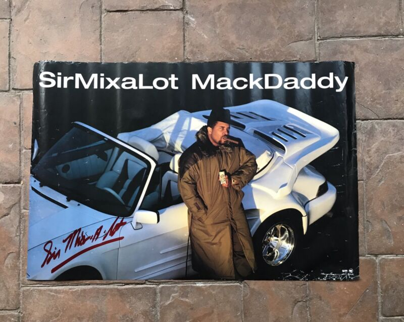 🍑SIR MIX-A-LOT🍑   Signed POSTER