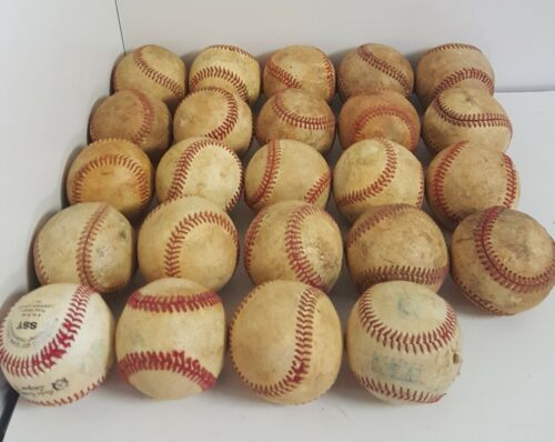 24 BASEBALLS GREAT for PRACTICE BATTING CATCH FIELDING Various Types See Descrip