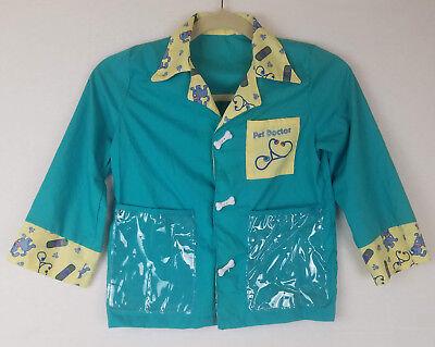 Pet Doctor Vet Youth Smock Costume Dress Up Jacket Button Front Pockets