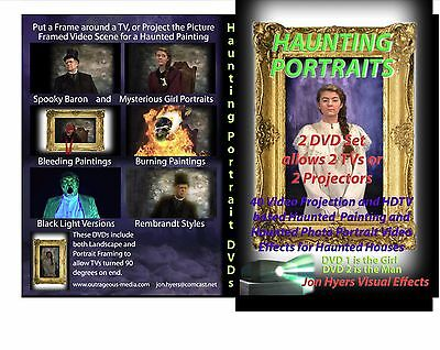 HAUNTING PORTRAITS Halloween Video Projection DVD (Halloween Projection Movies)