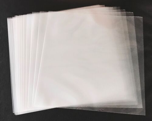100- 12 inch OUTER SLEEVES- 3 MIL CLEAR POLY SLEEVE