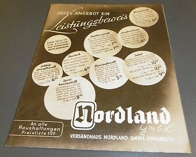 dd7df1eac58e0f versandhaus katalog heft alt nordland osnabrück stoffe kleidung damen mode  1952