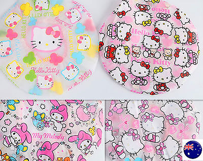 Lady Kid Girl Children Hello kitty Hair Wrap Waterproof Bath Shower Head Cap Hat ()