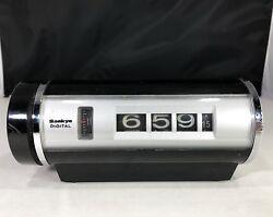 Vintage Sankyo Model 401 Black & Silver Digital Flip Roll Alarm Clock Working!!