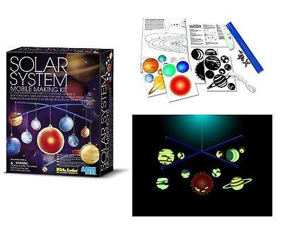 Dark Solar System Kit - Solar System Mobile Making Kit Kids Glow In The Dark Science Kit