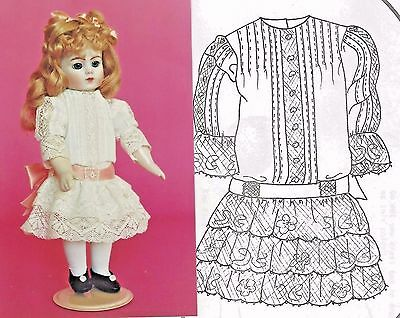 "10""ANTIQUE JUMEAU/BRU GERMAN GIRL DOLL FRENCH HAND SEW by machine DRESS PATTERN"