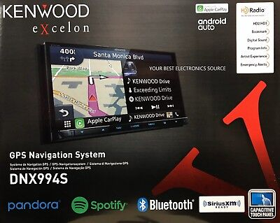"NEW Kenwood DNX994S 6.95"" eXcelon Double-DIN AV Navigation System With Bluetooth"