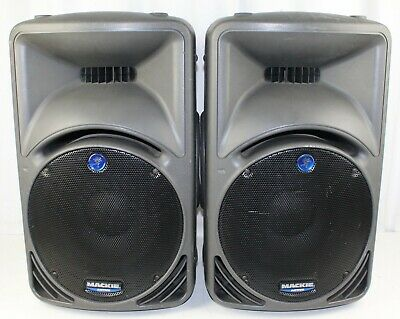 Mackie SRM450 Active 2-Way Sound Reinforcement System Speakers PAIR - Tested