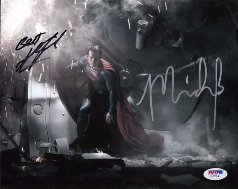 Henry Cavill & Michael Shannon signed Man of Steel 8x10 Photo PSA/DNA Y35759