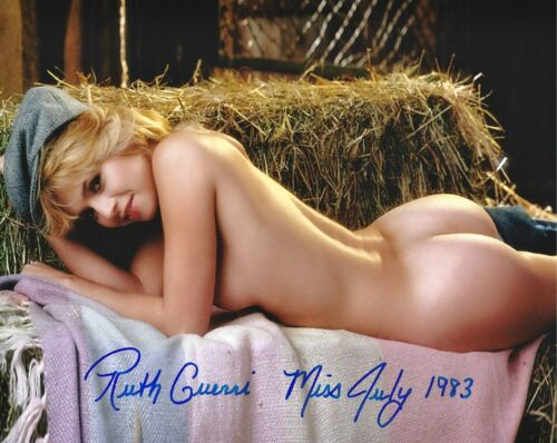 RUTH GUERRI 07/1983 PLAYBOY PLAYMATE SEXY SIGNED PHOTO  (IN4)
