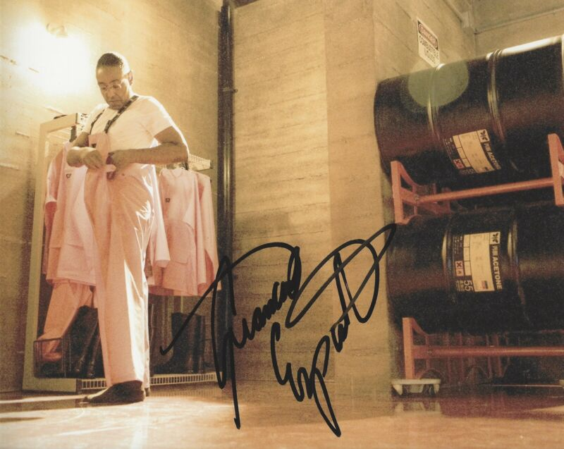 GIANCARLO ESPOSITO SIGNED 8x10 PHOTO BREAKING BAD GUS FRING +PROOF #6
