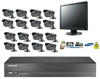Samsung 16 Channel CCTV Security Kit Bullet Camera Monitor Remote Viewing Monitor Security Kit