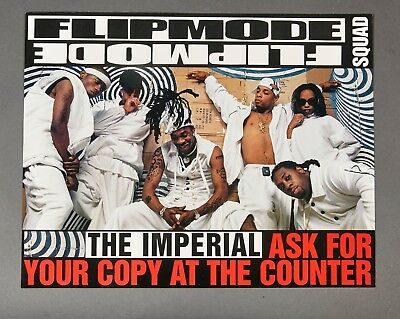 1998 Busta Rhymes Flipmode Squad Imperial ASK FOR COPY AT COUNTER PROMO POSTER