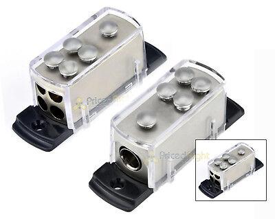 Two 4 8 Gauge Power Distribution Block Car Audio Wiring 1 to 4 Amp Platinum