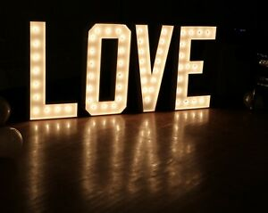 3 ft. LOVE Marquee Sign for Rent $250
