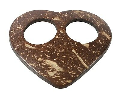Pareo Buckle, Natural Coconut - Heart