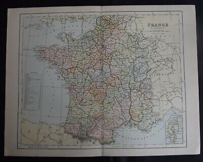 Somme Art Maps, Atlases & Globes Somme 1878 Old Antique Vintage Map Plan Chart