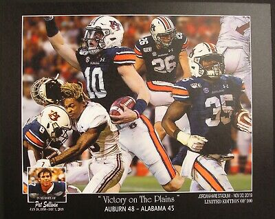 AUBURN Tigers vs Alabama 2019 Iron Bowl 48 - 45 print Bo Nix Pat -