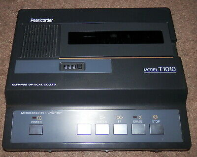 Olympus Pearlcorder T1010 Micro Cassette Transcriber Dictation