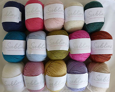 SUBLIME Baby Cashmere Merino Silk 4 Ply x 50g ~ K012 ~ Choose Colour