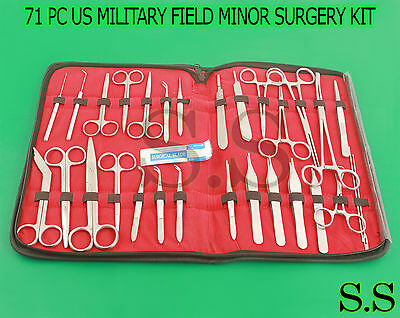 71 Pc Us Military Field Minor Surgery Surgical Veterinary Dental Instruments Kit