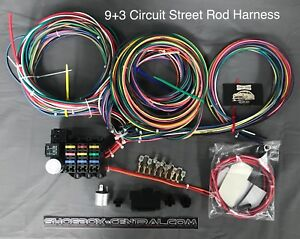 rebel wiring harness parts & accessories ebay 12 volt wiring harness 1949 ford f1 rebel wire 12 volt wiring harness, 9 3 circuit universal kit, made in