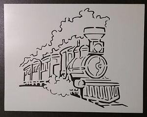 Irresistible image with train stencil printable