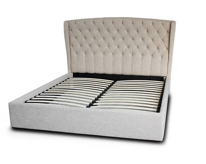 New King Bed massively reduced - Natural/Grey/Ocean Blue/Charcoal