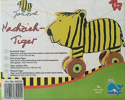 "Janosch Nachzieh Spielzeug -Tiger-  ""Beluga "" NEU"