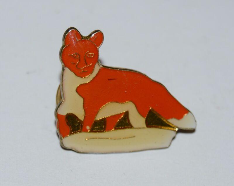 WOW Nice Vintage FOX Shaped Hunter Lapel / Jacket Pin Rare