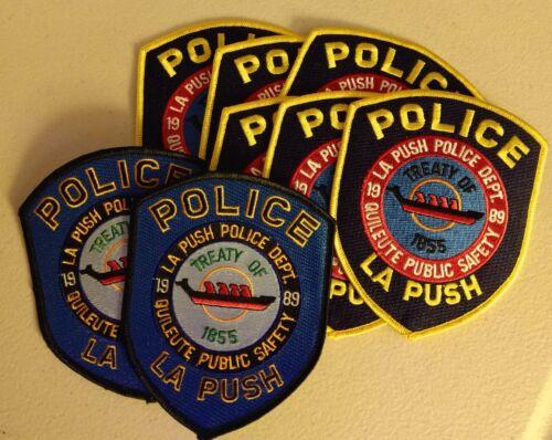 8 Quileute (Washington) tribal patches - postpaid