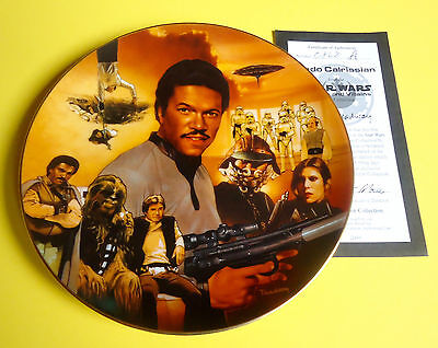 STAR WARS COLLECTOR PLATE:  Heroes and Villains  -  LANDO CAIRISSIAN