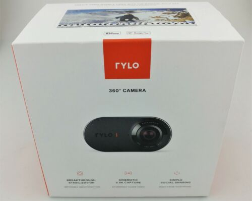 Rylo 360 Degree Ultra Wide Action Video Camera Black In Box Excellent Shape