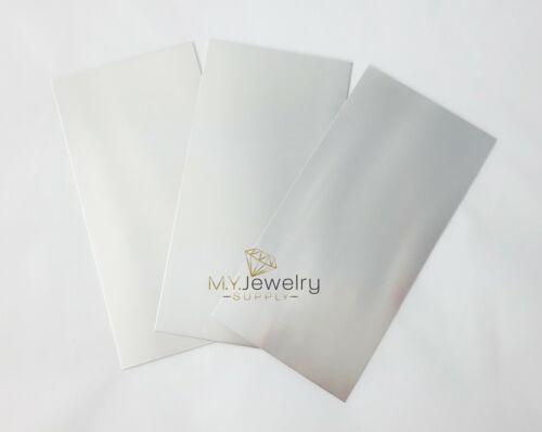 "6"" x 3"" Solid 925 Sterling Silver Sheet, 9-34 Gauge, Rectangular Blank"