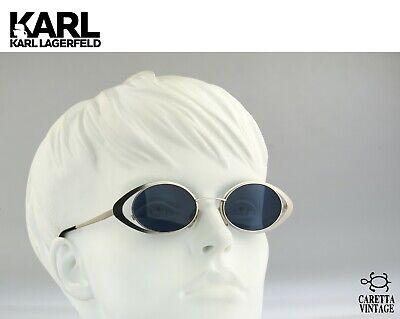 Karl Lagerfeld 4136 04, Vintage oval sunglasses, 90s steampunk sunglasses / NOS