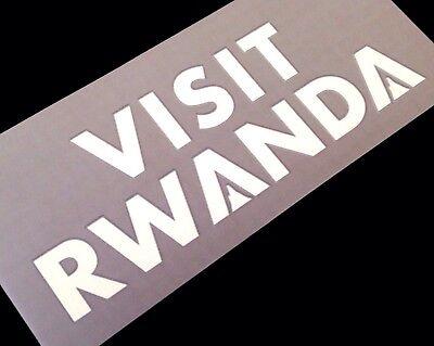 2018-19 Arsenal VISIT RWANDA Away Shirt OFFICIAL Arm Sleeve Sponsor Logo image