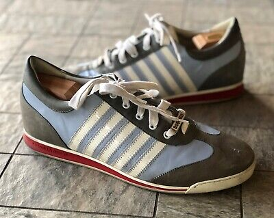 DSQUARED2 Blue/White Fashion Low-Top Leather Sneaker Men's 46/ US 13 TT