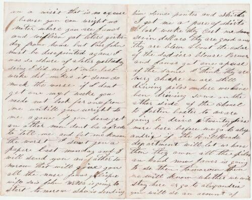 Civil War Letter Soldier 1864 - Black Regiment - Sickness  Wife w another man 4p