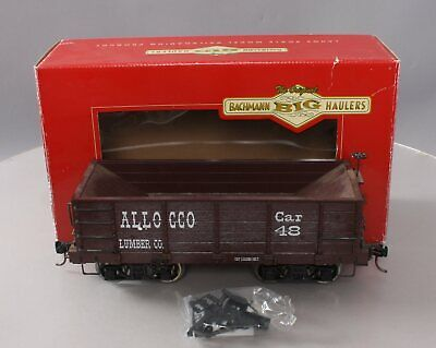 Bachmann 98570 G Scale Allocco Lumber Co. Wood Ore Car w/Metal Wheels/Box