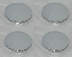4 CAP DEAL DETATA ALLOY D CHROME NO LOGO WHEEL RIM CENTER CAPS 99-2082