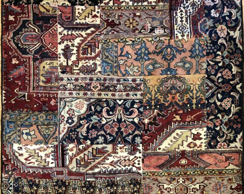 Amazing Antique - Modern Contemporary Patch Rug - Abstract Carpet 5.7 X 7.6 Ft.