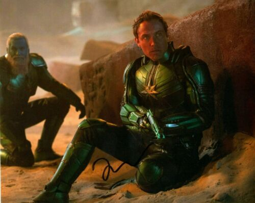 Jude Law Captain Marvel Autographed Signed 8x10 Photo COA CA35